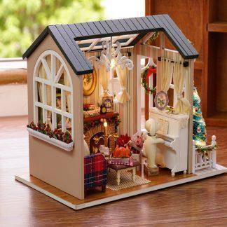Handmade Furniture Doll House Diy Miniature Doll House 3d Wooden