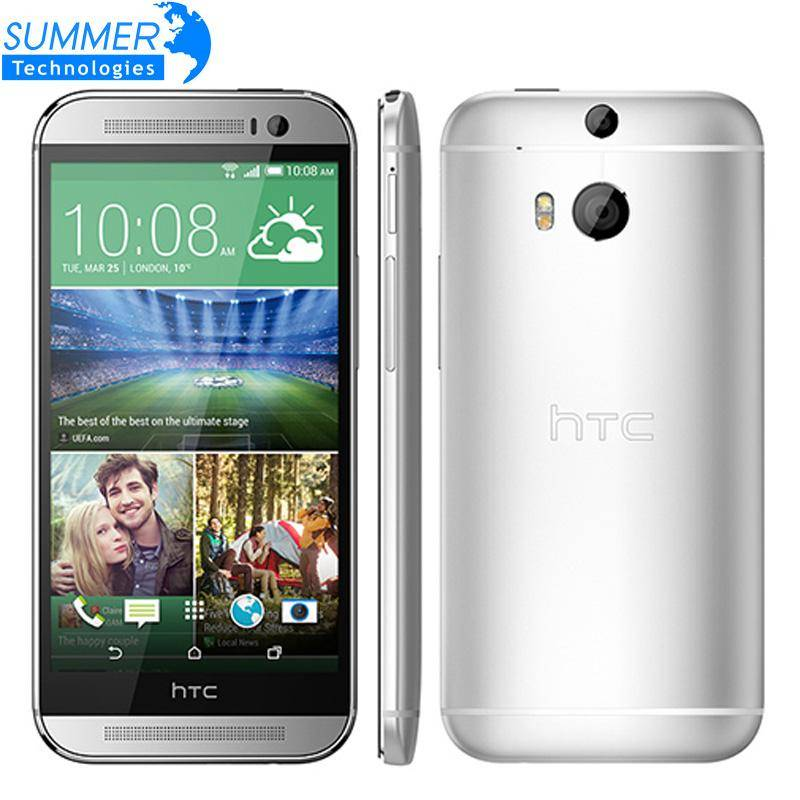 Original Unlocked HTC One M8 Smartphone Marshmallow Quad core 5.0' inch 4G LTE 2G RAM 16GB ROM 3 Cameras Mobile Phone