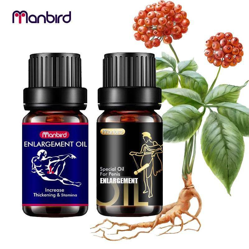 Manbird Natural Herbal Ingredient Penis Enlargement Oils Cream Lubricant Men Increase Big Dick Size Growth Erection Thickening