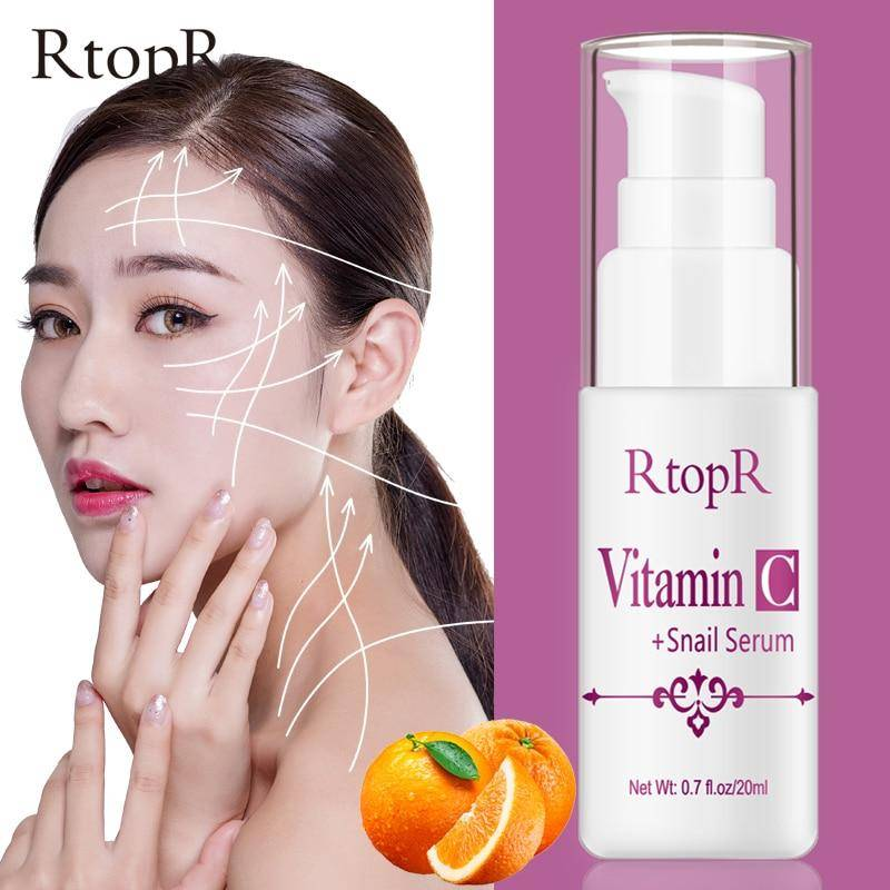 VitaminC Snail Serum Rejuvenation Anti Wrinkle Firming Bright Skin Serum For Face Ance Treatment Snail VC Collagen Repair Serum